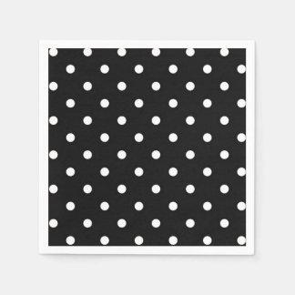 Black and white polka dot modern fashion paper napkins
