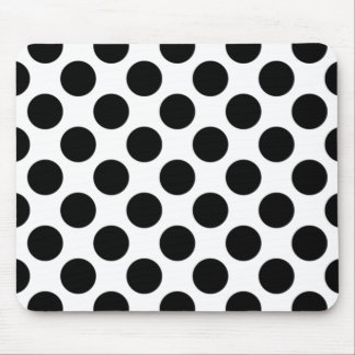Black and White Polka Dot Mousepad, Polka Dot Mouse Pad