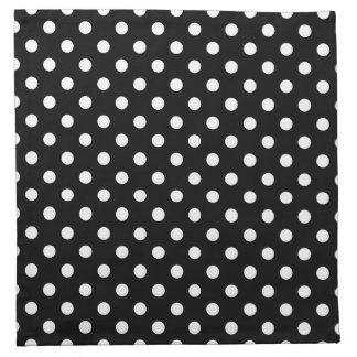 Black and White Polka Dot Napkin
