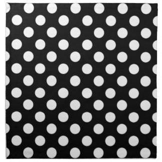 Black and White Polka Dot Napkins