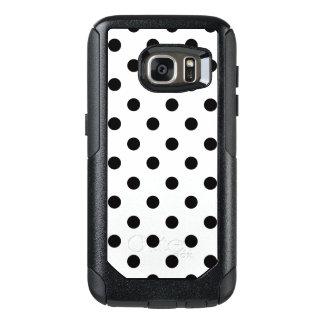 Black And White Polka Dot OtterBox Samsung Galaxy S7 Case