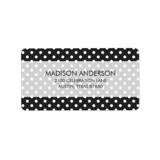 Black and White Polka Dot Pattern