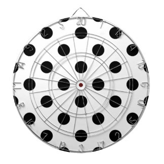 Black and White Polka Dot Pattern Dartboard