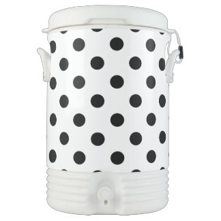 Black and White Polka Dot Pattern Drinks Cooler