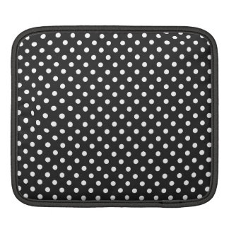 Black and White Polka Dot Pattern iPad Sleeve