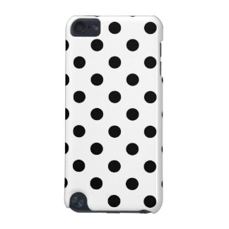 Black and White Polka Dot Pattern iPod Touch (5th Generation) Covers