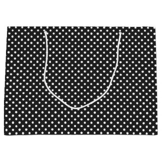 Black and White Polka Dot Pattern Large Gift Bag