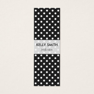 Black and White Polka Dot Pattern Mini Business Card
