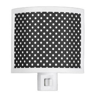 Black and White Polka Dot Pattern Night Lites