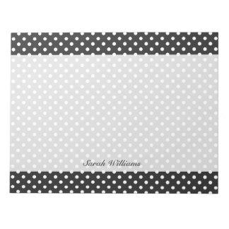 Black and White Polka Dot Pattern Notepads
