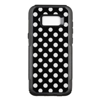 Black and White Polka Dot Pattern OtterBox Commuter Samsung Galaxy S8+ Case