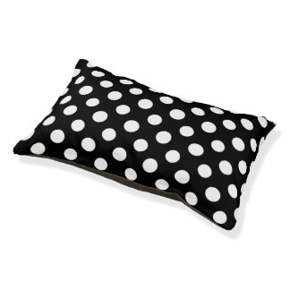 Black and White Polka Dot Pattern Small Dog Bed