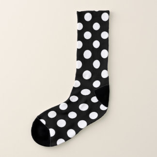 Black and White Polka Dot Pattern Socks 1