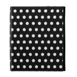 Black and White Polka Dot Pattern. Spotty. iPad Folio Covers