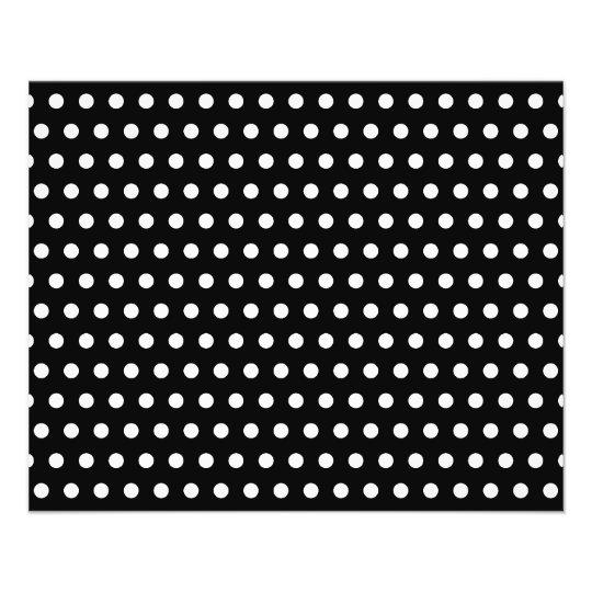 Black and White Polka Dot Pattern. Spotty. Full Color Flyer