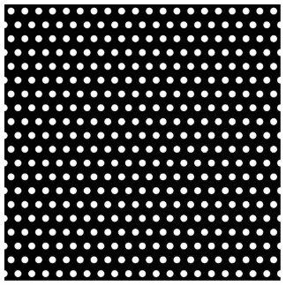 Black and White Polka Dot Pattern. Spotty. Photo Sculpture