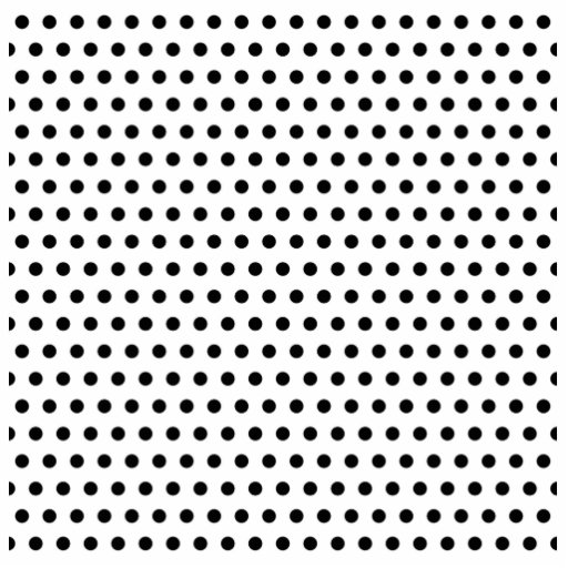 Black and White Polka Dot Pattern. Spotty. Acrylic Cut Out