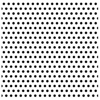 Black and White Polka Dot Pattern. Spotty. Standing Photo Sculpture