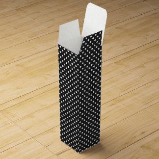 Black and White Polka Dot Pattern Wine Gift Box