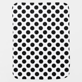 Black and White Polka Dot Receiving Blankets