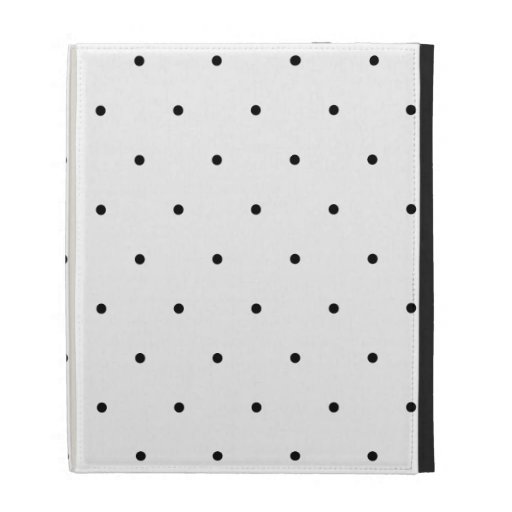 Black And White Polka Dot Spots iPad Cases