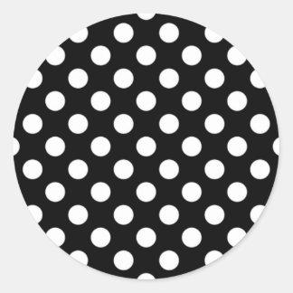 Black and White Polka Dot Sticker