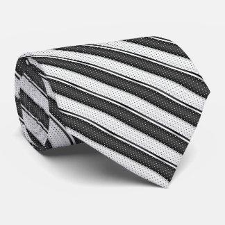 Black and White Polka Dot Stripes Tie