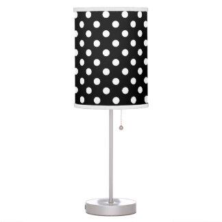 Black and White Polka Dot Table Lamp