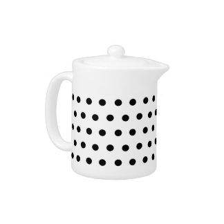 Black and White Polka Dot Teapot
