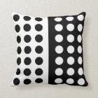 Black and White Polka Dot Throw Pillow