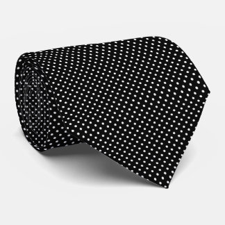 Black and White Polka Dot Tie for Him