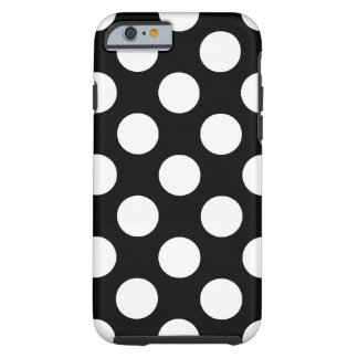 Black and White Polka Dot Tough iPhone 6 Case