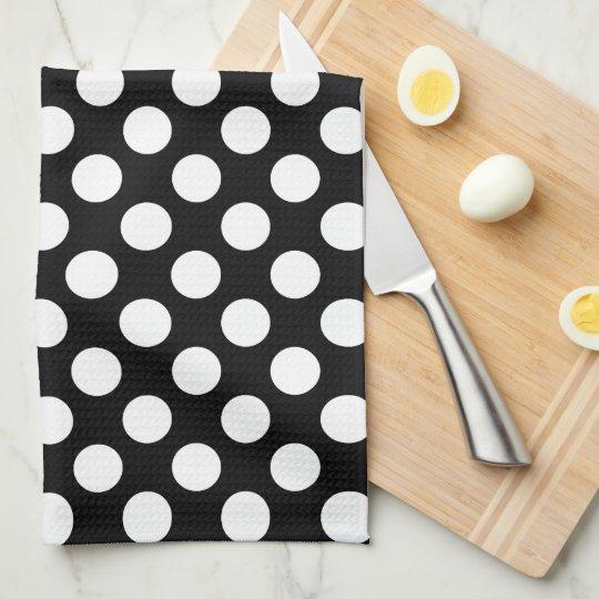 Black and White Polka Dot Towel