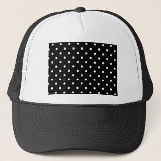 Black And White Polka Dot Trucker Hat
