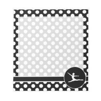 Black and White Polka Dots; Ballet Notepads