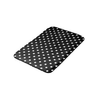 Black and White Polka Dots Bath Mat