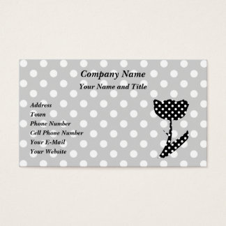 Black and White Polka Dots Business Card