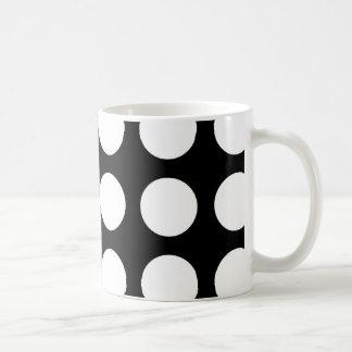 Black and white polka dots coffee mug