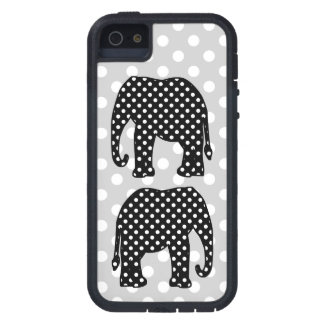 Black and White Polka Dots Elephant iPhone 5 Cases