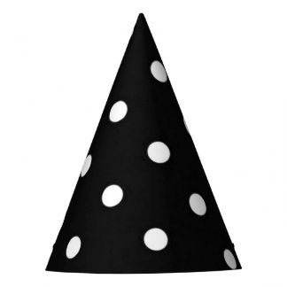 Black and white polka dots glamour fashion party hat