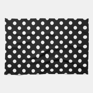 Black and White Polka Dots Kitchen Towel
