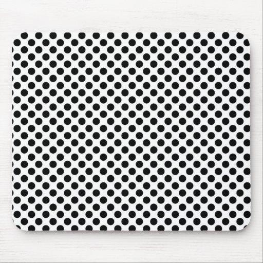 Black and White polka dots Mousepad