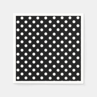 Black and White Polka dots Napkin