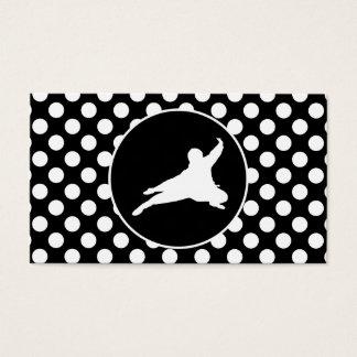 Black and White Polka Dots; Ninja Business Card
