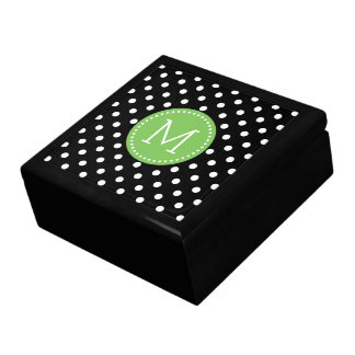 Black And White Polka-Dots Pattern 3 Gift Box