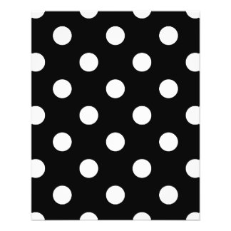 Black and White Polka Dots Pattern Flyer
