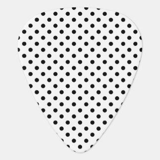 Black and White Polka Dots Pattern Guitar Pick