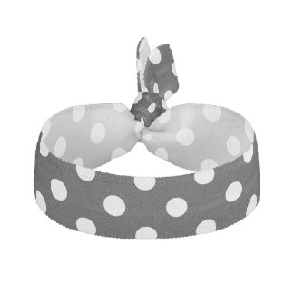 Black and White Polka Dots Pattern Hair Tie