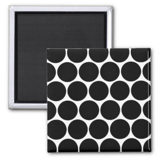 Black  And White Polka Dots Pattern Magnet