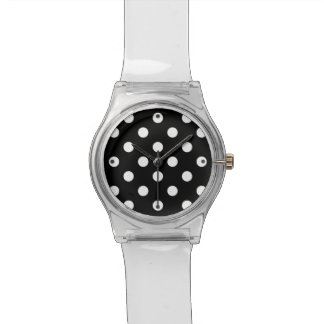 Black and White Polka Dots Pattern Watch